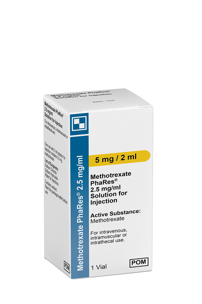 Produktverpackung Methotrexat PhaRes