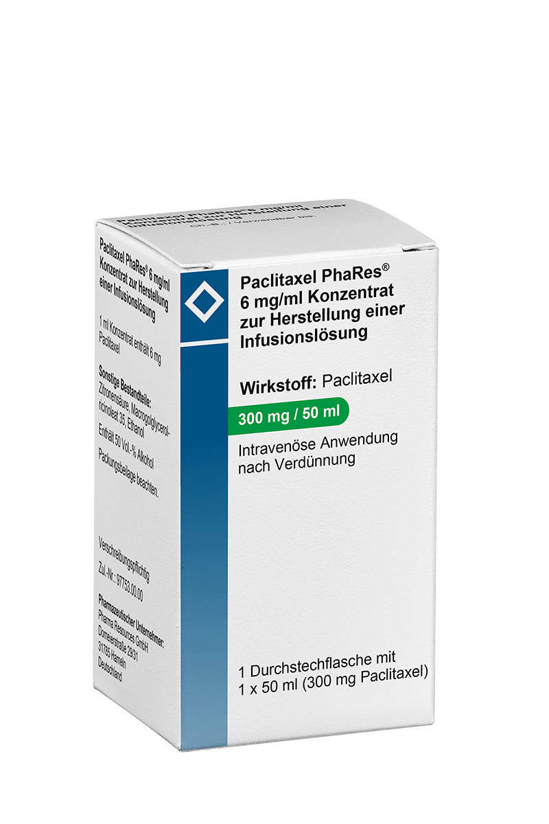 Produktverpackung Paclitaxel PhaRes